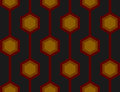 Retro Hexagons Red Seamless Tile Royalty Free Stock Photos
