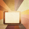 Retro hi tech background vintage paper texture Royalty Free Stock Image