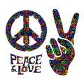 Retro hippie symbol