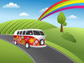 Retro hippie van Stock Image