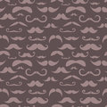 Retro hipster moustache trendy seamless pattern Stock Photography