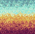 Retro hipsters geometric pattern colorful vintage triangle seamless background vector file layered for easy manipulation and Stock Images