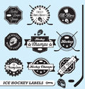 Retro Hockey League Labels and Stickers Stock Photos