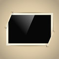 Retro horizontal photo frame Stock Photo