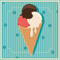 Retro ice cream background with Stock Photography