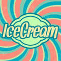Retro ice cream template vintage background with grunge Stock Photo