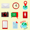 Retro icons vector eps Royalty Free Stock Photography