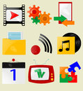 Retro icons vector eps Royalty Free Stock Photos
