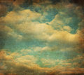 Retro image of cloudy sky Stock Photography
