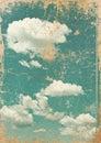 Retro image of cloudy sky Royalty Free Stock Photo