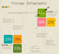 Retro infographic with ink arrows vector illustration eps Royalty Free Stock Photo