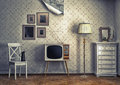 Retro interior Stock Photography