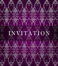 Retro invitation card Stock Images