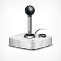 Retro joystick on white background vector illustration Royalty Free Stock Photo