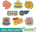 Retro label Banner set Stock Image