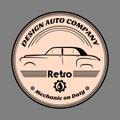 Retro label car
