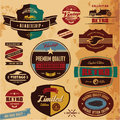 Retro labels and badges Royalty Free Stock Photo