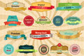 Retro labels and badges Royalty Free Stock Photography