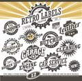 Retro labels and stickers collection