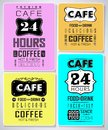 Retro labels and typography bakery coffee shop cafe menu design elements Royalty Free Stock Images