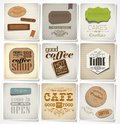 Retro labels and typography vintage bakery card coffee shop cafe menu design elements calligraphic Royalty Free Stock Photos