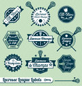 Retro Lacrosse League Labels and Stickers