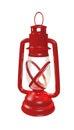 Retro lantern illustration of a styled red Stock Photo
