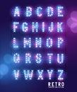 Retro Lightbulb Theatre Letters