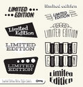 Retro Limited Edition Labels and Stickers Stock Photo