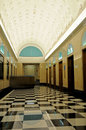 Retro lobby and elevator Royalty Free Stock Photo