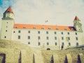 Retro look bratislava castle slovakia vintage looking bratislavski hrad in slovak republic Royalty Free Stock Photography
