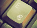 Retro look computer keyboard vintage looking detail of keys on a Royalty Free Stock Images