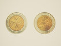 Retro look Euro coin from Malta Royalty Free Stock Photo