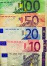 Retro look Euro note Royalty Free Stock Photo