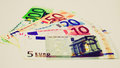 Retro look Euro note Royalty Free Stock Photo