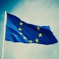 Retro look Flag of Europe Royalty Free Stock Photo
