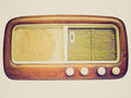 Retro look old am radio tuner vintage looking a picture of Royalty Free Stock Image
