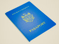 Retro look passport vintage looking document id from the republic of moldova Stock Image