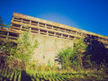 Retro look st peter seminary vintage looking ruins of iconic new brutalist building in cardross nr glasgow scotland Stock Photo