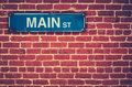 Retro Main Street Sign Royalty Free Stock Photo