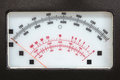 Retro measurement system with analog scale Royalty Free Stock Photo