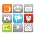 Retro media icons Royalty Free Stock Image