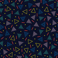 Retro memphis geometric line shapes seamless patterns. Hipster fashion 80-90s. Abstract jumble textures. Black and white