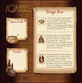 Retro menu template background for food recipe Royalty Free Stock Photography
