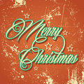 Retro merry christmas greeting illustration of Royalty Free Stock Images