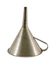 Retro metal funnel hopper tool isolated on white Royalty Free Stock Photos