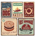 Retro metal signs Stock Images