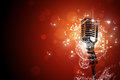 Retro microphone music background Royalty Free Stock Image