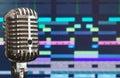 Retro microphone. Royalty Free Stock Photo