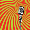 Retro microphone vector for karaoke parties Royalty Free Stock Image